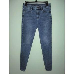 American Eagle High Rise Jegging Acid Wash Jeans